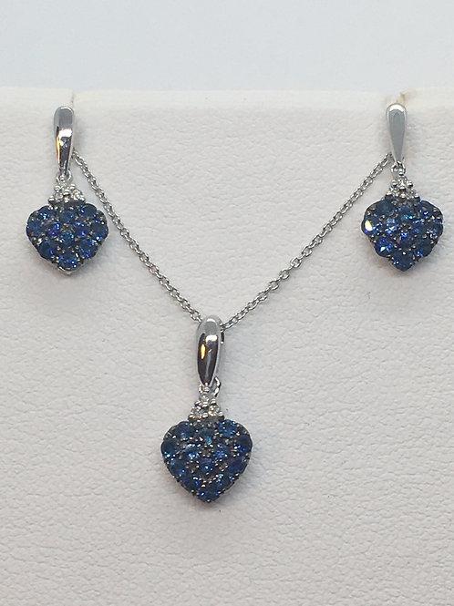 9ct Diamond Sapphire Set