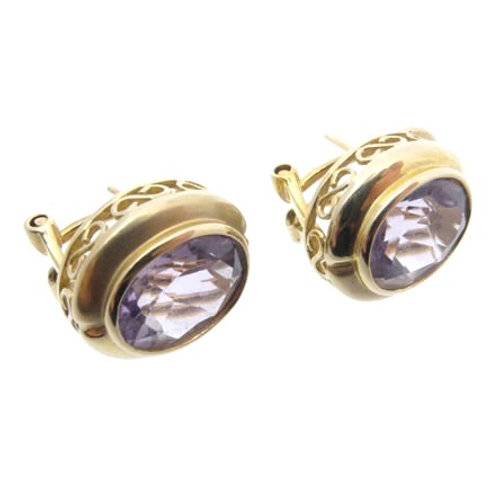 14ct Amethyst Earrings