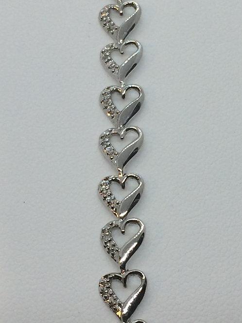 9ct Gold Ladies Diamond Bracelet