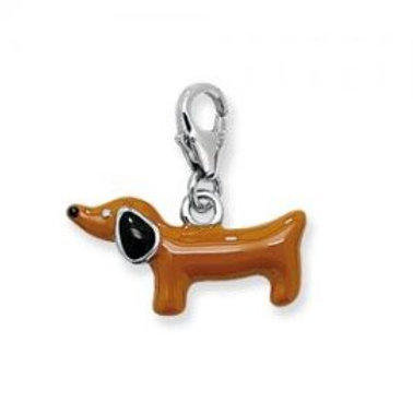 SILVER & CO. DOG CHARM BROWN