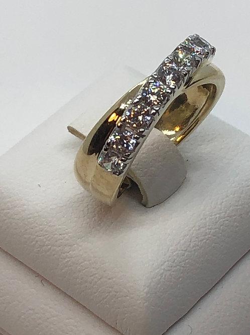 9ct Yellow Gold Cubic Zirconia Ring