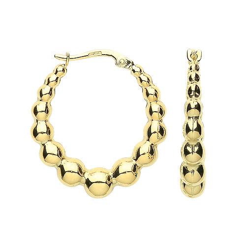 9ct Yellow Gold Beaded  earrings