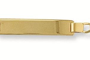 9ct yellow gold ladies Figaro Bracelet