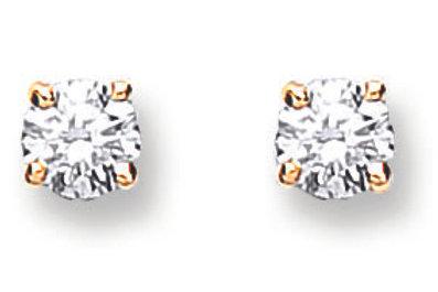 18ct yellow Gold 0.25ct diamond Stud Earrings