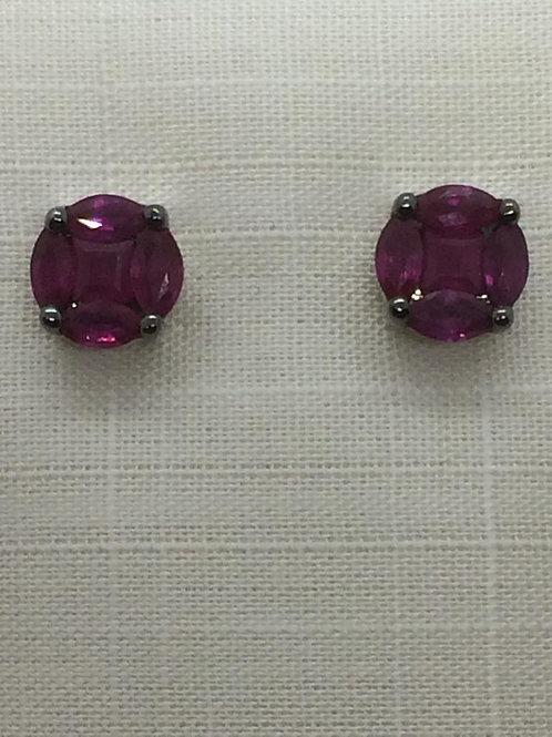 14ct Gold Ruby Earrings