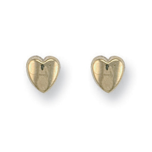 9ct yellow Gold Heart Studs