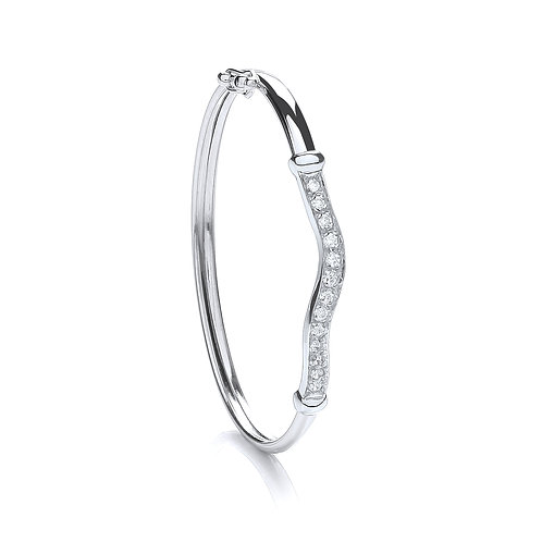 Sterling Silver Baby CZ Bangle