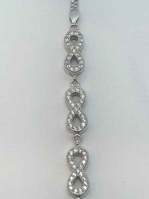 Sterling Silver Cubic Zirconia set Bracelet