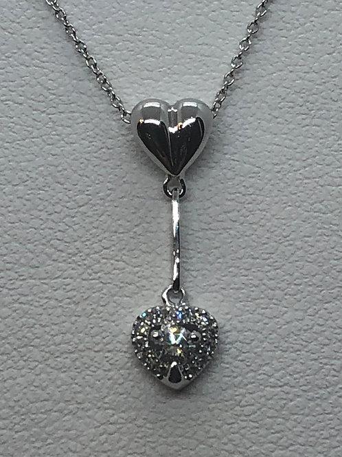 14ct White Gold Diamond Necklace