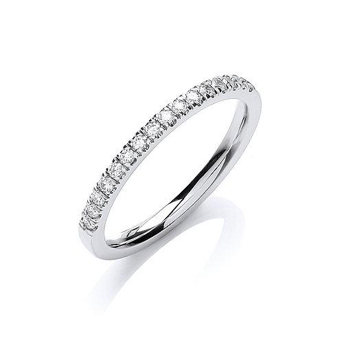 18ct White Gold  Half ET Diamond ring 0.20ct