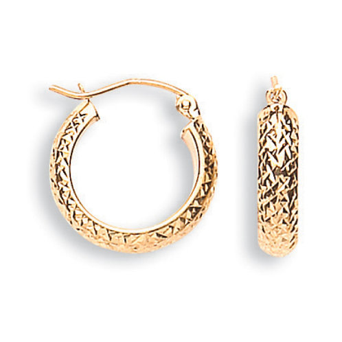 9ct Yellow Gold D/C earrings