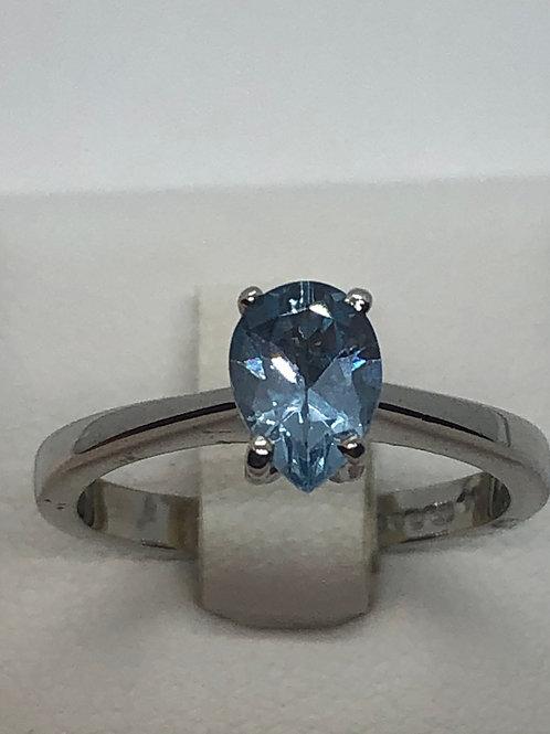 Platinum Aquamarine Ring