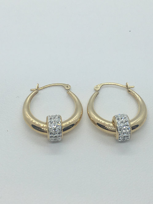 9ct Yellow Gold Earrings with CZ balls