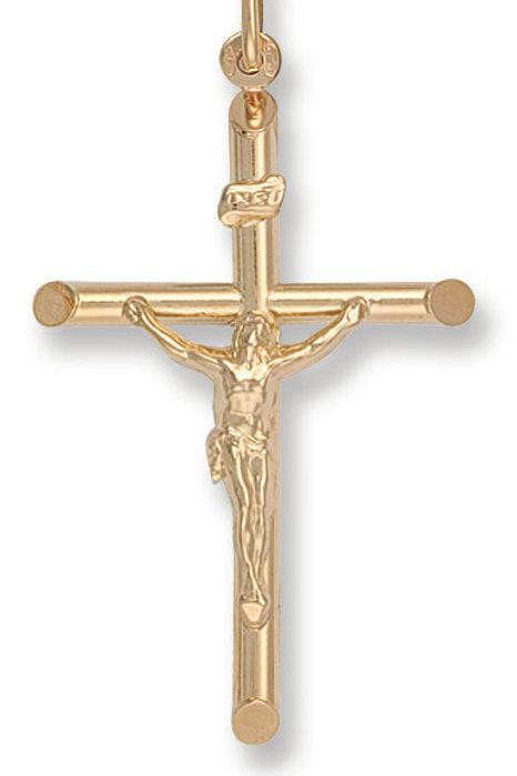 9ct yellow Gold crucifix