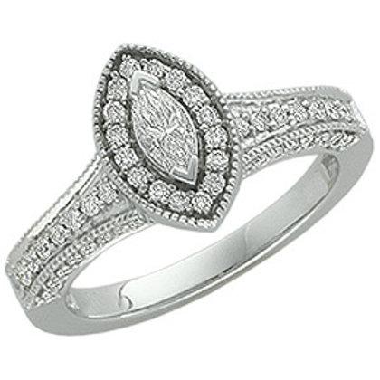 14K WHITE GOLD DIAMOND ENGAGEMENT RING DIAMOND