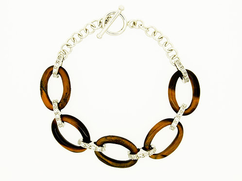 Ladies Tiger Eye Dress Bracelet