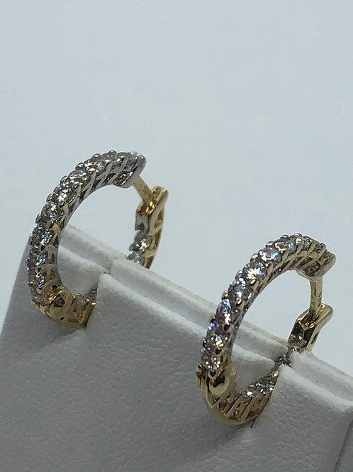 14ct Yellow Gold Cubic Zirconia set Earrings