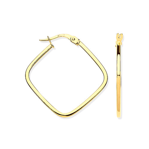 9ct yellow Gold Square Earrings