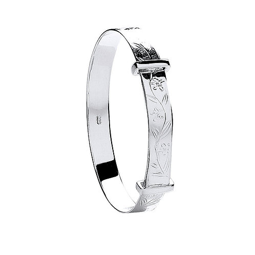 Sterling Silver Expandable Baby Bangle