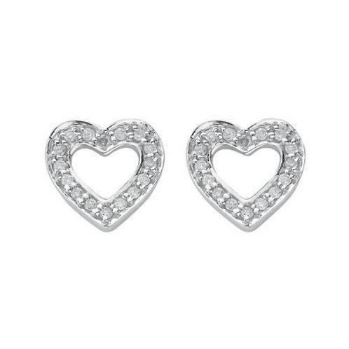 18ct White Gold  0.18ct Diamond Stud Earrings