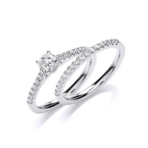 18ct White Gold Diamond ring solitaire 045ct