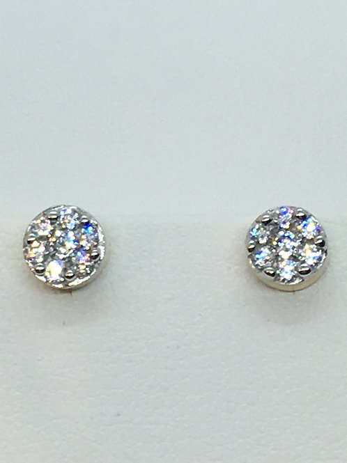 9ct Yellow Gold Cubic Zirconia Screw back Earrings
