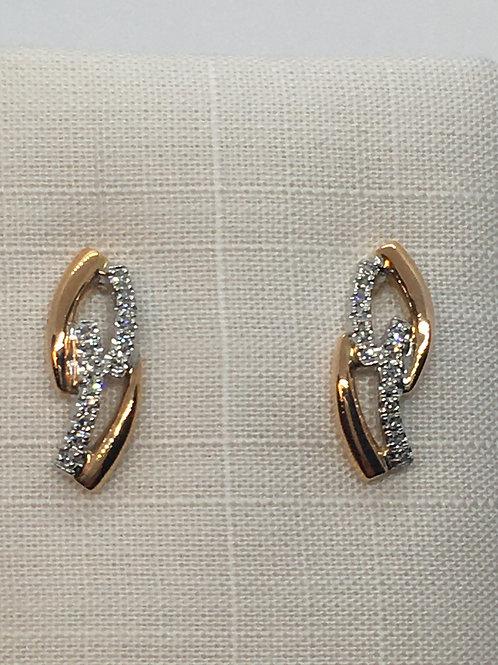 14ct Gold Diamond Earringsa