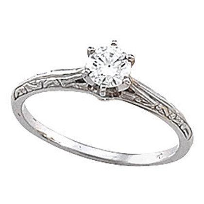 PLATINUM ENGAGEMENT RING WITH SPARKLING DIAMOND
