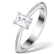 0.50CT IDEAL PRINCE CUT DIAMOND AND 18K WHITE GOLD