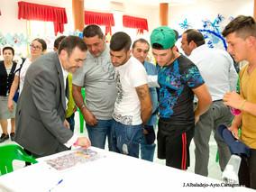 El alcalde visita Los Mateos y el Castillo de los Moros para conocer de primera mano los avances rea