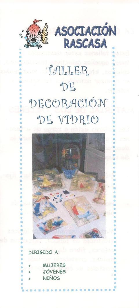 TALLER DE DECORACIÓN DE VIDRIO