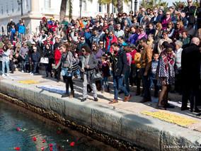 Cartagena homenajeó a los refugidos ahogados en el mar