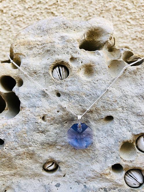 Sacred Octagonal Shield - Akashic Swarovski Violet