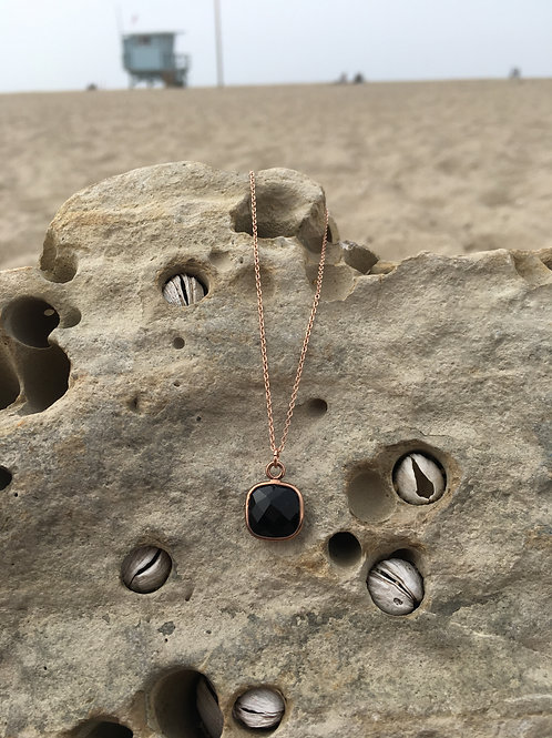 Gypsy Moon Onyx Sacred Square - Rose Gold