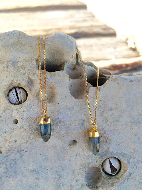 Gypsy Moon Labradorite Mermaid Tear - 24k Gold