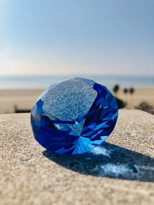 Radiant Diamond Crystal - Akashic Swarovski Mini Room Charger {Sapphire}