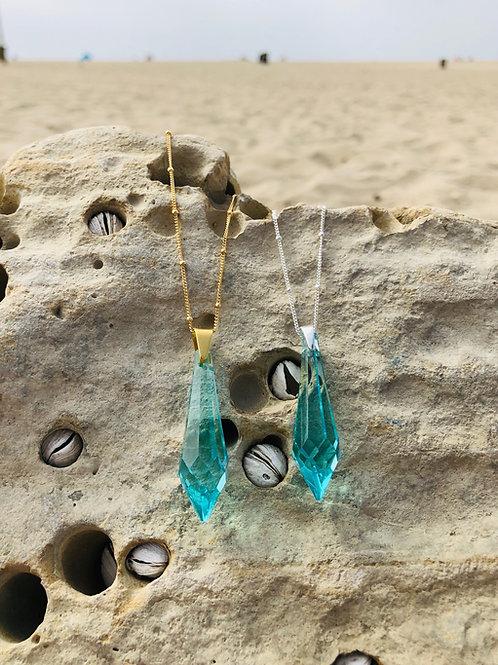 Shiva Drop - Akashic Swarovski Turquoise