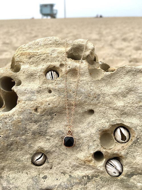 Gypsy Moon Onyx Sacred Petite Square - Rose Gold