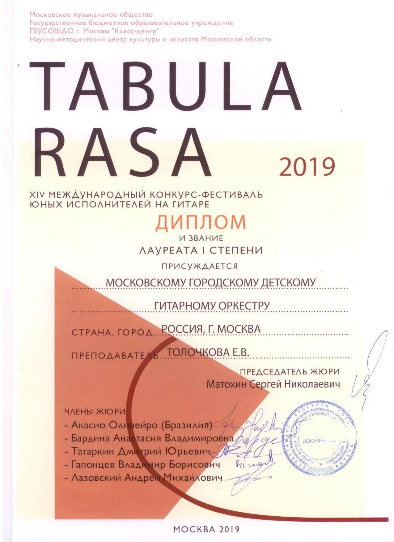 Диплом Оркестр 03.2019