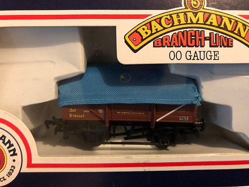 33-075 5 PLANK CHINA CLAY WAGON WITH HOOD BR BROWN