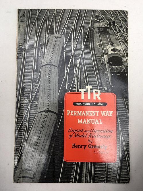 TTR TRIX TWIN RAILWAY - PERMANENT WAY MANUAL 1954
