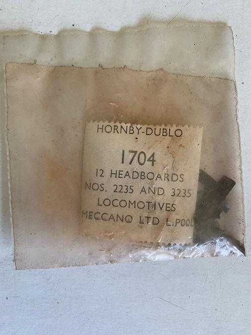 1704 12 x LOCOMOTIVE HEADBOARDS