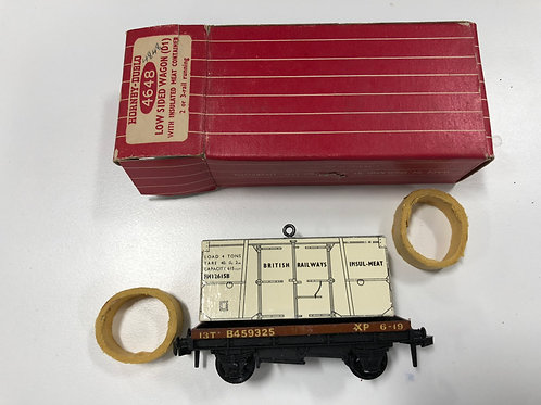 4648 LOW SIDED WAGON WITH INSULATED MEAT BOXED (plastic couplings)