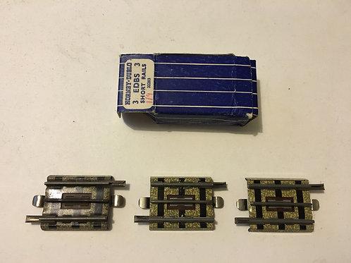 35706 3706 3 x SHORT RAILS (EIGHTH) BOXED