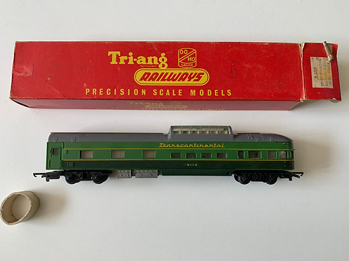 R.336 DUO TONE GREEN OBSERVATION CAR - T.C. SERIES