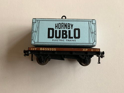32085 D1 LOW SIDED WAGON WITH HORNBY DUBLO CONTAINER LOAD