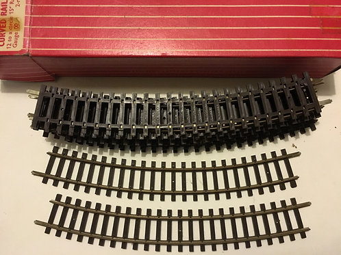 2710 12 x CURVED RAILS FOR CIRCLE 15'' RAD BOXED