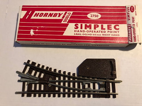 2750 SIMPLEC HAND OPERATED RIGHT HAND POINT BOXED