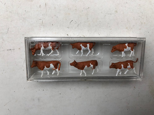PREISER 79155 BROWN & WHITE COWS