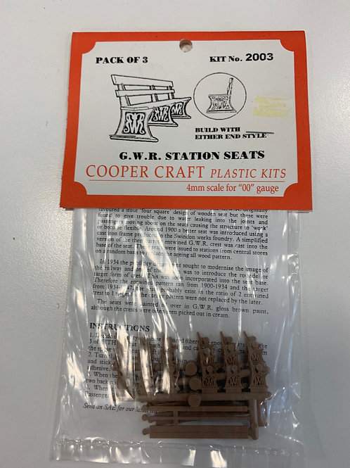 COOPER CRAFT 2003 G.W.R. STATION SEATS (PACK OF 3)